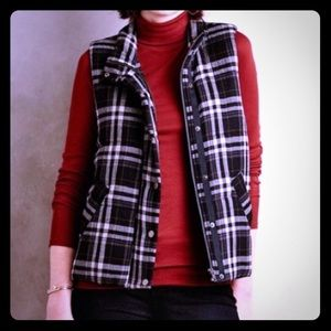 Anthro Hei Hei Quincy Plaid Puffer Vest
